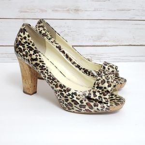 "Franco Sarto ""Vice"" Leopard Print Heels"